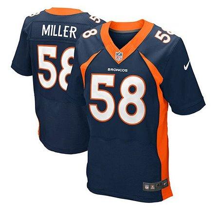 16be4b605 Camisa Denver Broncos Von Miller  58 Elite - Touchdown Store