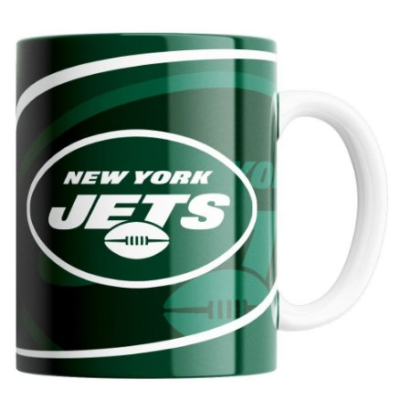 CANECA NFL NEW YORK JETS DE PORCELANA 325ML