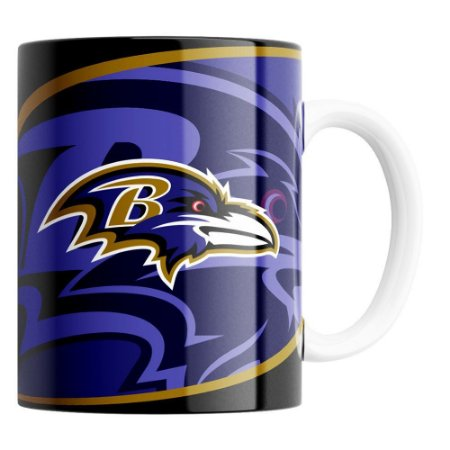 CANECA NFL BALTIMORE RAVENS DE PORCELANA 325ML