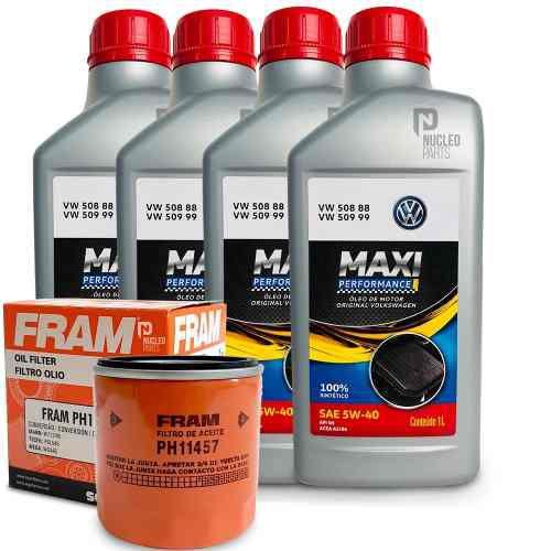 Kit troca de óleo 5W40 volkswagen Maxi Performance  + Filtro de óleo