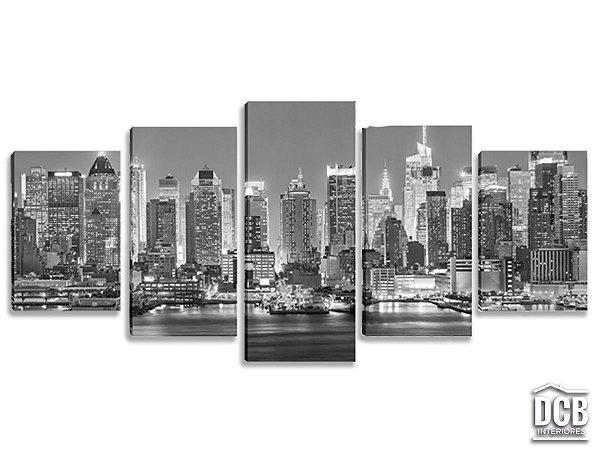Quadros Decorativos 5 Telas Nova York