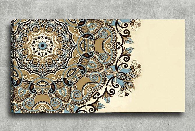 Quadro Decorativo Digital 55x100 Mandala Bege