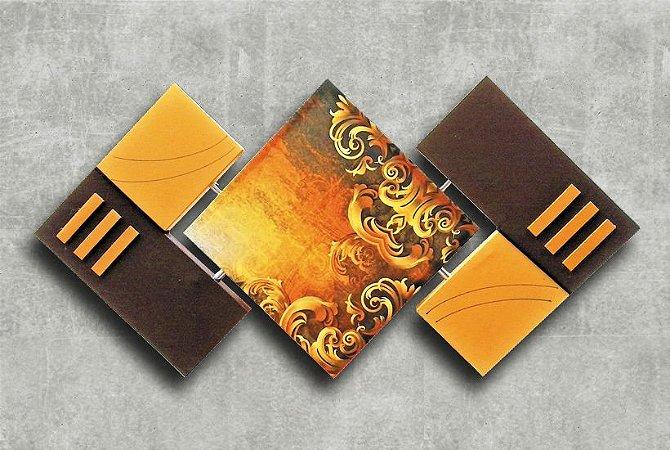Quadro Decorativo Abstrato Losango 65x125 QDL04