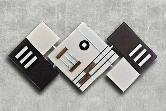 Quadro Decorativo Abstrato Losango 65x125 QDL05
