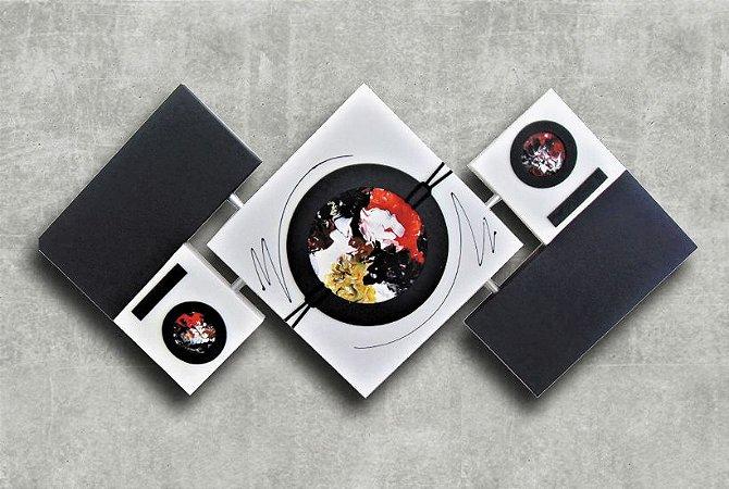 Quadro Decorativo Abstrato Losango 65x125 QDL07