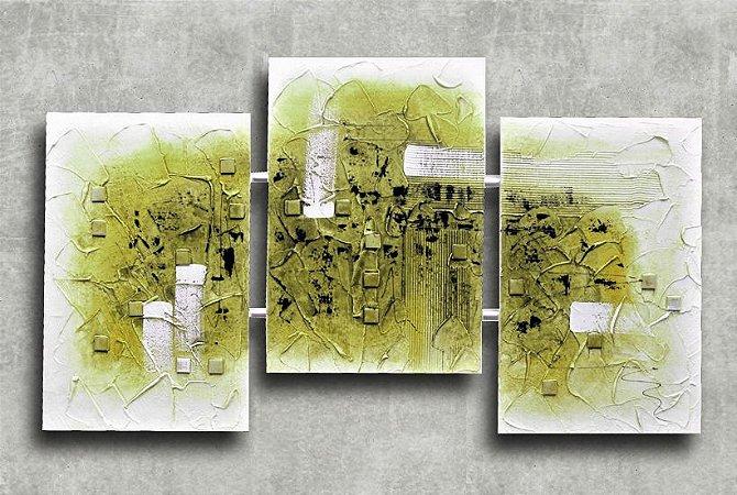 Quadro Decorativo Abstrato Triplo 60x126 QDT06