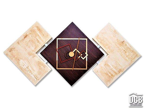 Quadro Abstrato Decorativo Tabaco Para Interiores 60x120 Centímetros