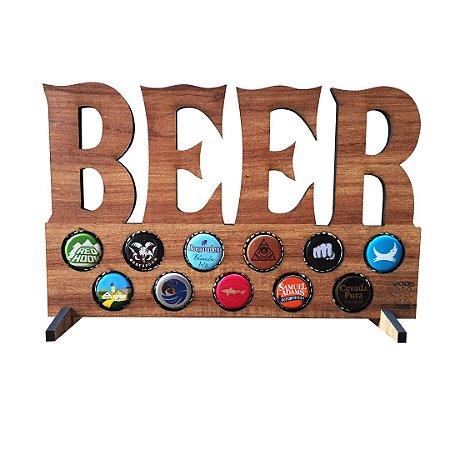 Quadro porta-tampinhas de cerveja - Beer - 11 Espaços!