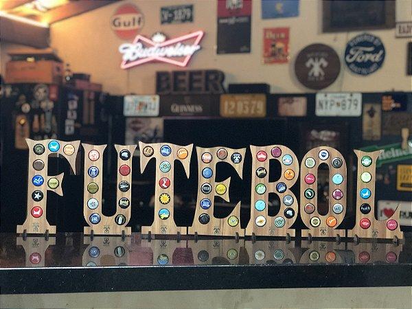 Quadro Porta-Tampinhas Alfabeto Wood - Kit 7 letras