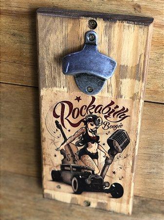 Abridor Magnético de garrafas estilo Rockabilly