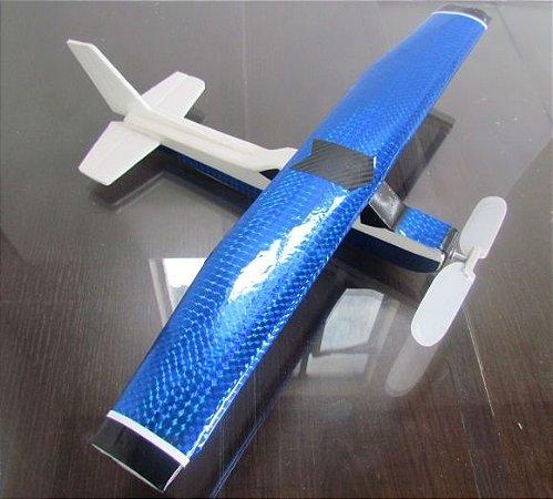 Aeromodelo CESSNA 152 azul que voa até 60 metros