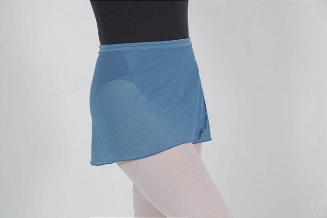 Saia de tela lisa azul garnet