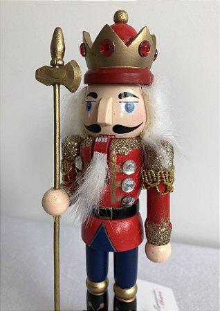 Soldado Quebra Nozes - 17 cm - vermelho
