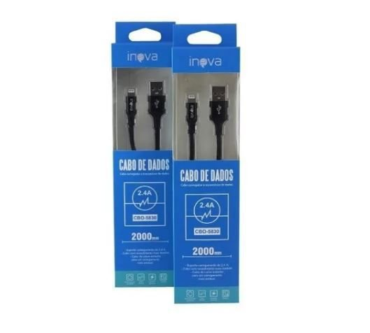 Cabo USB iPhone 2.4A  2,0 mts