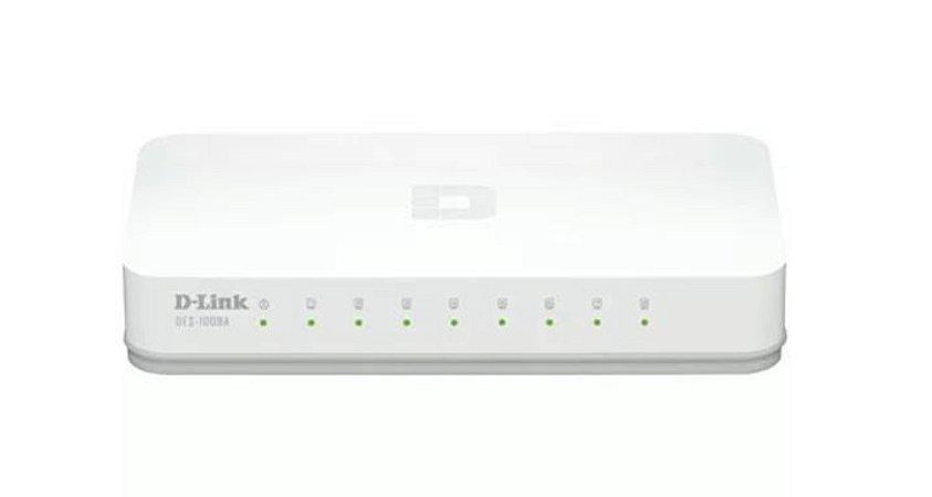 Switch 8 Portas Gigabit - D-Link - DGS-1008A