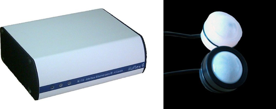 IK-003 - Kit Sala de TV / Home Theater com 1 IC-114 + 1 IA-419B - Iluflex