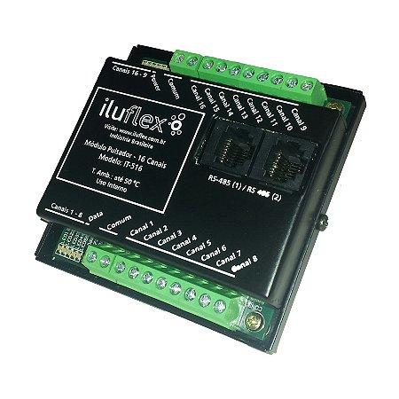 IT-516 - Módulo Pulsador - 16 Canais