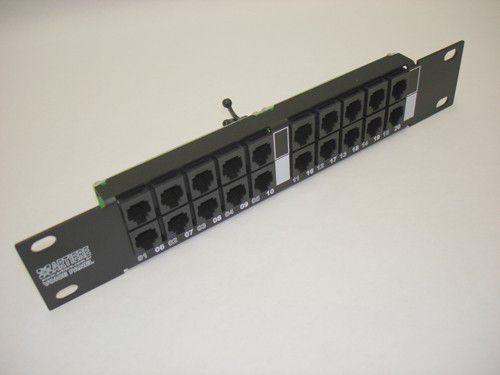 "Voice Panel RJ11-RJ45/IDC 110 - 10""/1U - 20 pares"