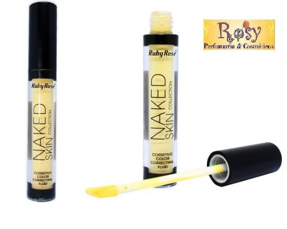 Corretivo Liquido Naked Color Amarelo Ruby Rose