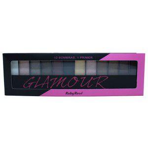 Kit Maquiagem 12 Cores c/ Fixador - Glamour