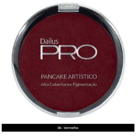 Pancake Artístico Dailus Vermelho