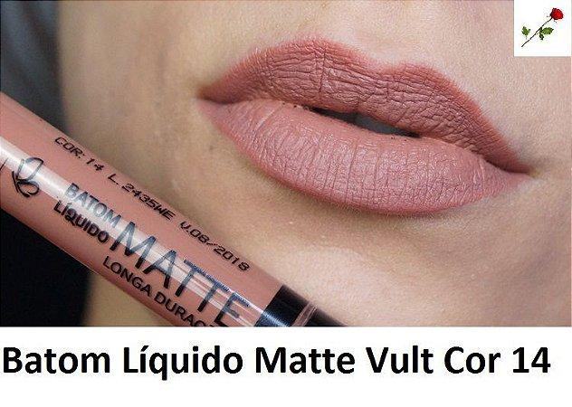Batom Liquido Matte Cor 14 Vult
