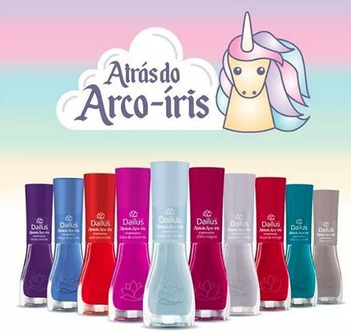 Esmalte Dailus Coleção Arco Iris c/ 10pçs