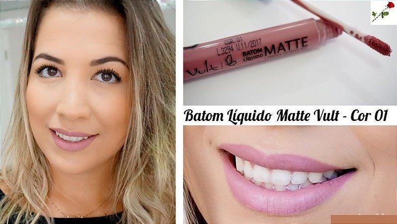 Batom Liquido Matte Cor 01 Vult