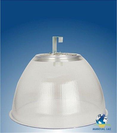"""Luminária Prismática 22"""" em Acrílico Cristal PS com Gancho Simples E40"""