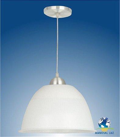 Kit 2 Luminárias Prismática Com Pendente De 12 Polegadas