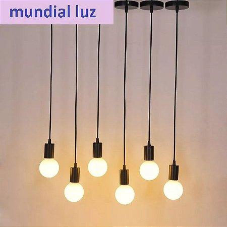 Pendente Para 1 Lâmpadas Varias Cores - Thomas Edison