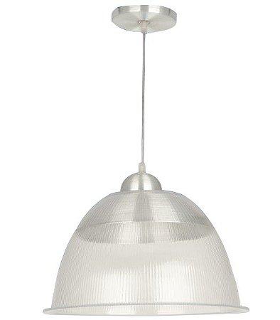 """Kit 8 Luminária Prismática 12"""" Colorida com Pendente Acrílico PS"""