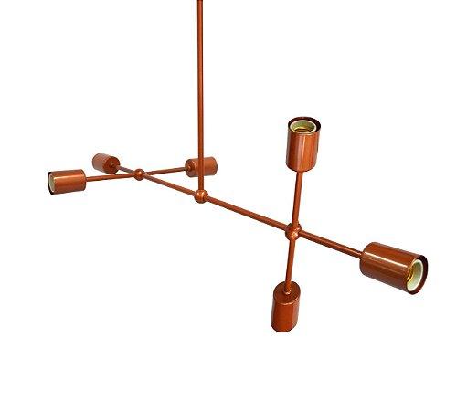 Lustre Pendente Moderno Sputnik Assimétrico Para 6 Lâmpadas