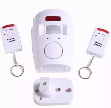 Alarme Sem Fio Kit Residencial Comercial 2 Controles Remoto