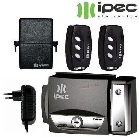 Fechadura Elétrica Kit com 2 Controles Remotos receptor e Fonte