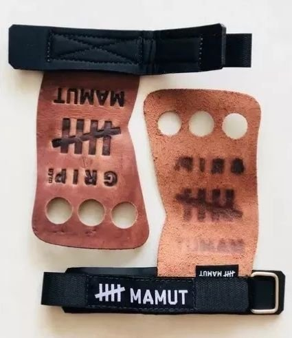 Luva Grip 3 Furos Crossfit Academia Musculação Barra Mamut