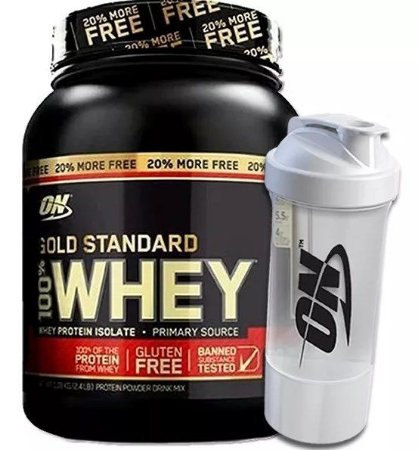 100% Whey Gold Standard 2.4lbs / 1.08kg + Coqueteleira - On