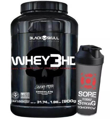 Whey 3hd 900g + Shaker - Black Skull