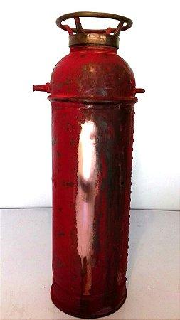 Extintor De Incêndio Antigo Em Cobre  Muito Raro E Exclusivo