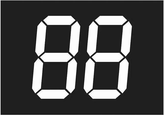 Adesivo Gigante Do Ano Do Veículo Para Lojas E Concessionárias - 30x36cm 60 Pares