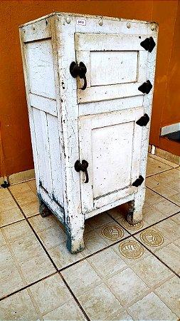 Geladeira Antiga Em Madeira Anos 30 - Muito rara - Antiguidade