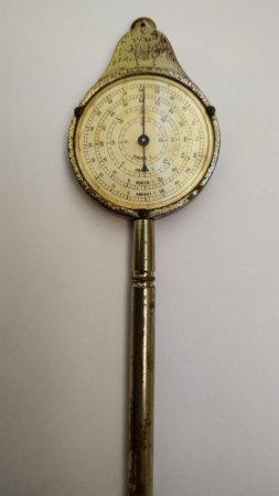 Curvímetro Suiço- Aparelho antigo para medir distância em mapas