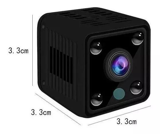 Mini Micro Câmera Monitoramento Espiã Casa Carro Segurança Hd Wifi Visão Noturna Infra