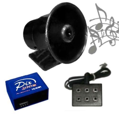 Buzina Eletrônica Musicada 7 Sons - Você escolhe o modelo