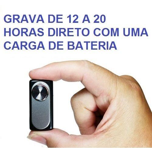 Gravador de voz espião mini de grande autonomia 12 a 20 horas