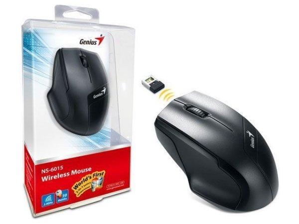 MOUSE WIRELESS GENIUS NS-6015 PRETO/AZUL