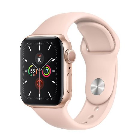 Novo Relógio Apple Watch Série 5 Alumínio Pulseira Sport 44mm Gold Dourado mwve2bz/a Gps mwve2