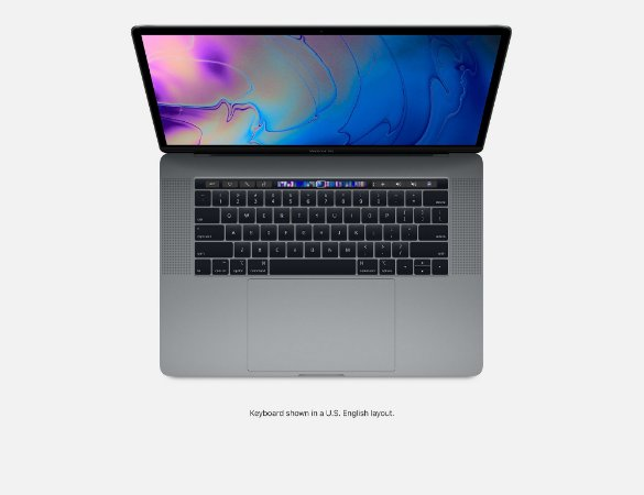 NOTEBOOK APPLE MACBOOK PRO 15 MV902BZ/A I7 2.6 GHZ 6 CORE 16GB 256GB 555X 4GB TOUCH BAR MID 2019 CINZA ESPACIAL MV902 SPACE GRAY