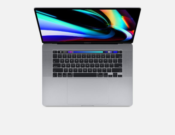 "Apple Novo Macbook Pro 2019 16"" Polegadas i7 2.6 16gb 512gb ssd MVVJ2BZ/A AMD Radeon Pro 5300M 4GB Space Gray MVVJ2"
