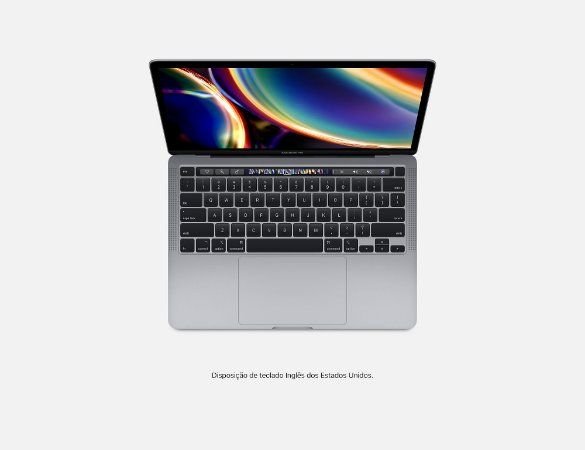Apple Novo Macbook Pro Touch Bar 13 2020 MWP52BZ/A I5 2.0 ghz 16gb 1TB ssd Cinza Espacial / Space Gray MWP52 MWP52LL/A MWP82 MWP82LL/A